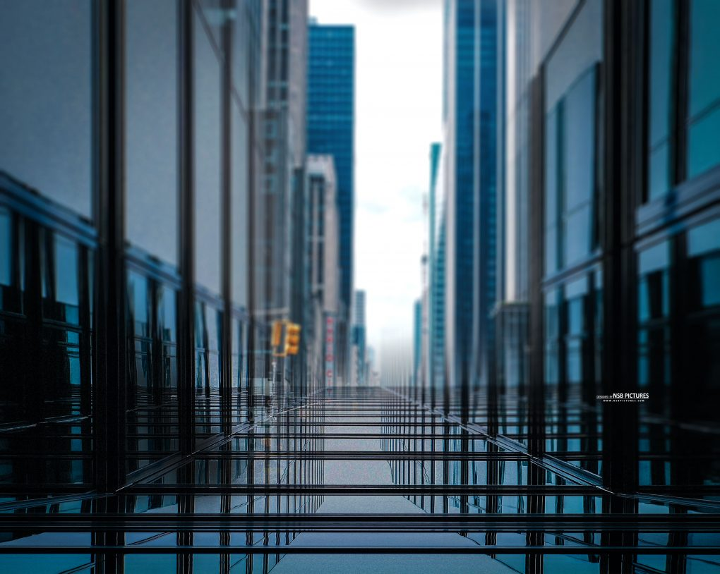 glass city background